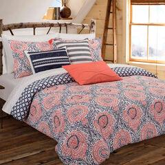 Floral Block Comforter Set,