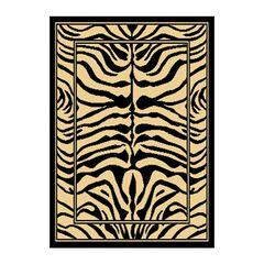 Zone Zebra Print Rug, 5'2'x7'4',