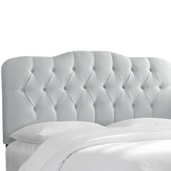 Tufted Headboard, SHANTUNG SILVER