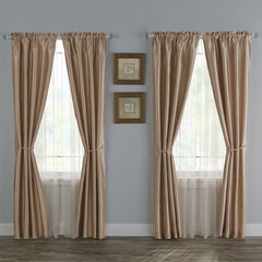 12-Pc. Faux Silk Window Set, TAUPE