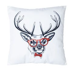 Hipster Reindeer Pillow,