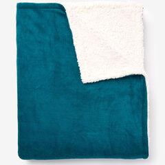 BrylaneHome® Studio Sherpa Microfleece Reversible Blanket,