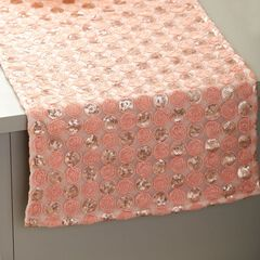 72' Pink Sequined Table Runner,