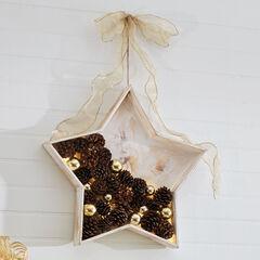 Pine Cone Star Wall Art,