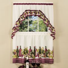 Chardonnay Printed Tier and Swag Window Curtain Set,