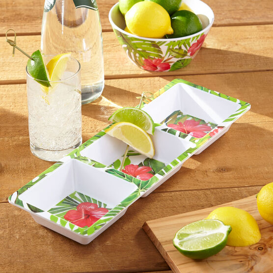 Hibiscus 3-Section Tray, MULTI