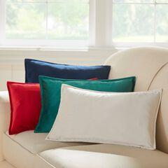BH Studio Velvet Lumbar Pillow Cover, SANTA RED