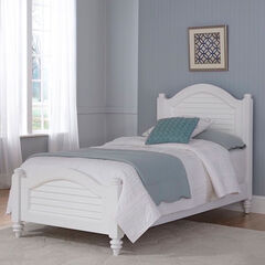 Bermuda Brushed White Twin Bed,
