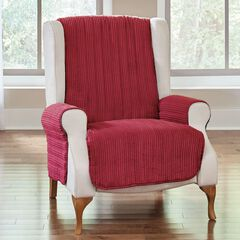 Reversible Plush Stripe Recliner Protector,