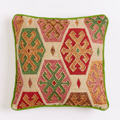 "14"" x 14"" Beaded Geo Pillow,"