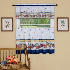 Fruity Tiles Tier and Valance Window Curtain Set, MULTI