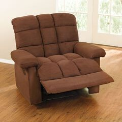 Pillowtop Recliner with Square Tufted Back,