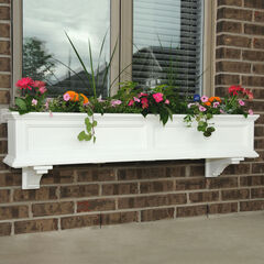 Mayne® Fairfield 5' Window Box, WHITE