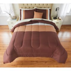 BH Studio Colorblock Comforter, CHOCOLATE