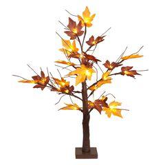 """24"""" Pre-Lit Harvest Tree,"""
