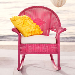 Roma All-Weather Rocking Chair, PINK