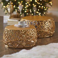 Cast Aluminum Nesting Tables, Set of 2,