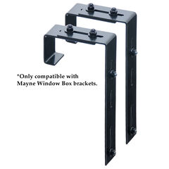 Mayne® Mayne Adjustable Deck Rail Bracket 2-Pack,