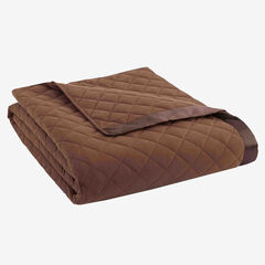 Micro Flannel® Quilted Blanket, CHOCOLATE