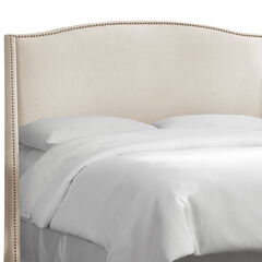 Nail Button Wingback Headboard,