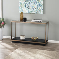 Lexina Glass-Top Console Table,