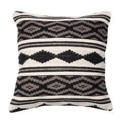 Monochromatic Aztec Inspired Woven Pillow,