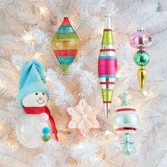 Snowman Ornaments, Set of 6,