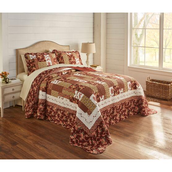 Bedspread, Allison Printed Patchwork Bedspread Collection,