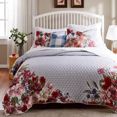 Barefoot Bungalow Lexi Quilt and Pillow Sham Set,