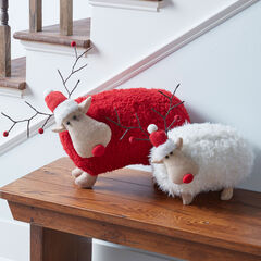 Plush White Reindeer,