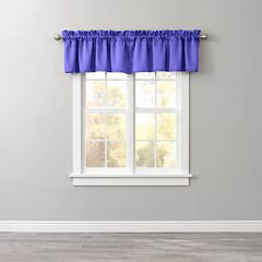 BH Studio Room-Darkening Rod-Pocket Valance, GRAPE