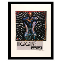 Marvin Gaye Woody's On The Beach - Blue / Red - 14x18 Framed Print,
