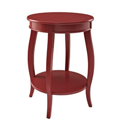 Round Table with Shelf, RED