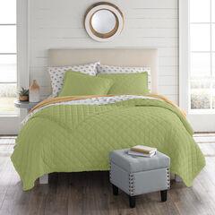 Paige Diamond Lace Quilt, OLIVE