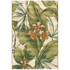 "Liora Manne Marina Tropical Leaf Indoor/Outdoor Rug 23""X7'6"","