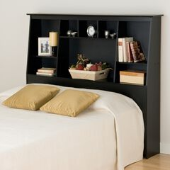 Full/Queen Tall Slant-Back Bookcase Headboard,
