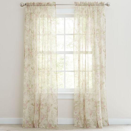 Stowe Printed Crushed Voile Rod-Pocket Panel,