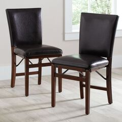 Parsons Folding Chairs, Set of 2,
