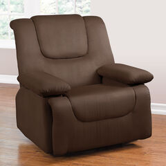 Oversized Storage Arm Recliner, DARK BROWN