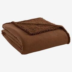 Micro Flannel® Reverse to Sherpa Blanket, CHOCOLATE