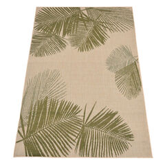 Cristol Palm Outdoor Rug , GREEN