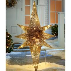 """36"""" LED Glitter Bethlehem Star,"""