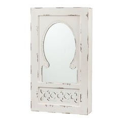 Shabby Chic Wall Mount Jewelry Mirror,
