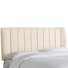Wesley Channel Seam Headboard, LINEN TALC