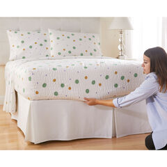 300-TC Cotton Printed Bed Tite™ Sheet Set, SAGE DOTS