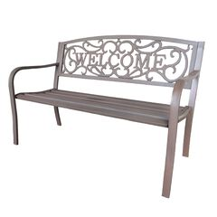 Bronze Steel Welcome Bench,