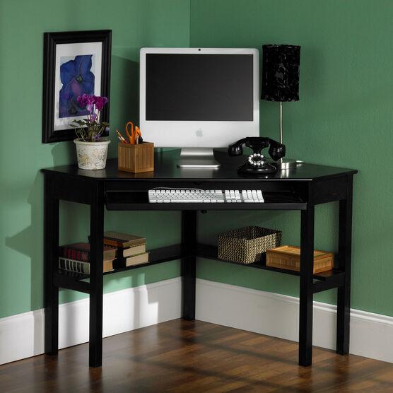 Solid Wood Modern Corner Computer Desk| Office Desks ...
