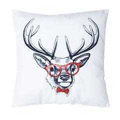 Hipster Reindeer Pillow,
