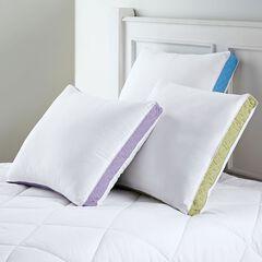 Gusseted Density 2-Pack Pillows, Medium Firm,