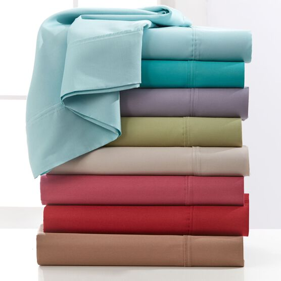 500 Thread Count Cotton-Rich 4-Pc. Solid Sheet Set,